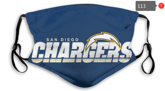 NFL Los Angeles Chargers 1 Dust mask with filter