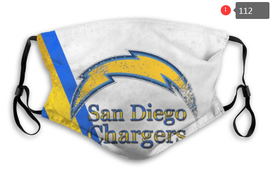NFL Los Angeles Chargers 2 Dust mask with filter