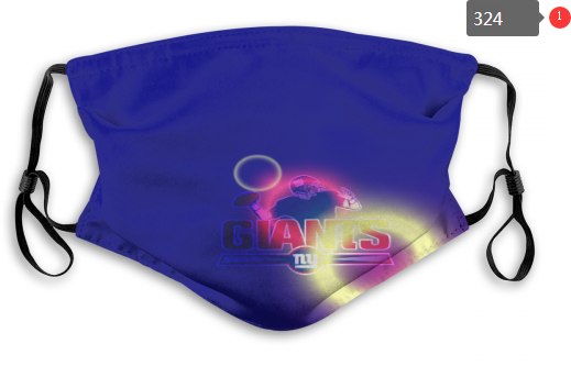 NFL New York Giants 2 Dust mask with filter