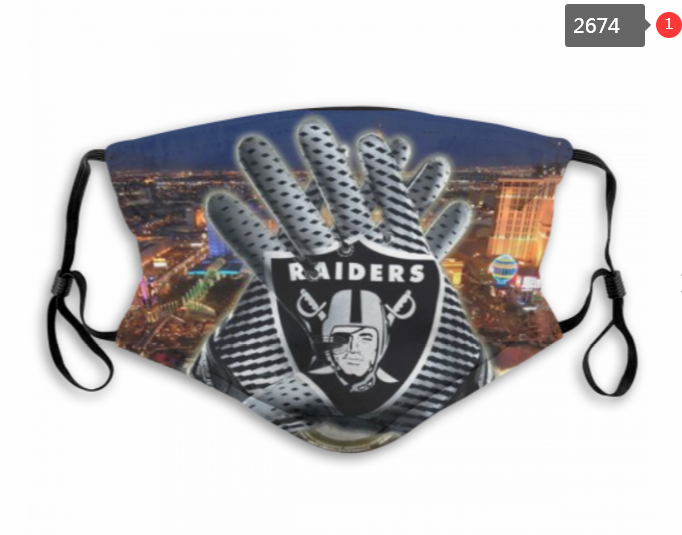 NFL Oakland Raiders 30 Dust mask with filter