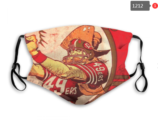 NFL San Francisco 49ers 5 Dust mask with filter
