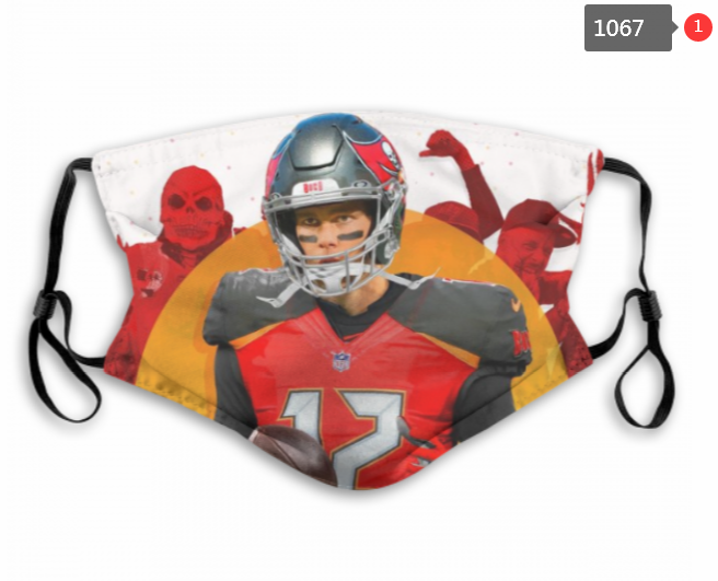 NFL Tampa Bay Buccaneers 2 Dust mask with filter
