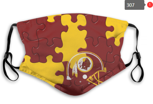NFL Washington Red Skins 3 Dust mask with filter