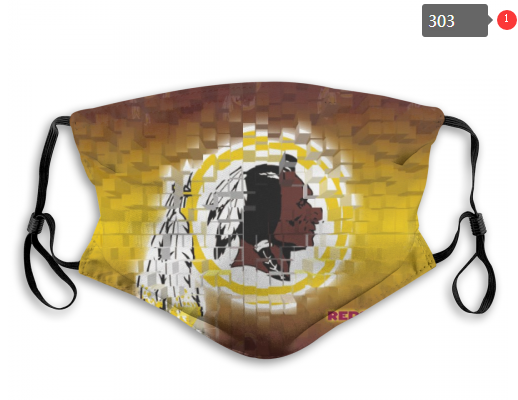 NFL Washington Red Skins 7 Dust mask with filter