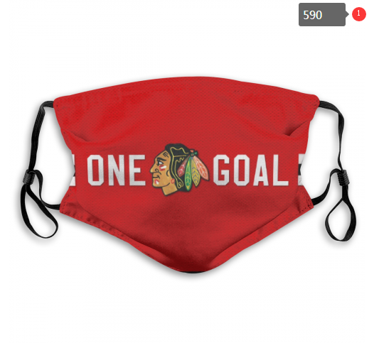 NHL Chicago Blackhawks 3 Dust mask with filter