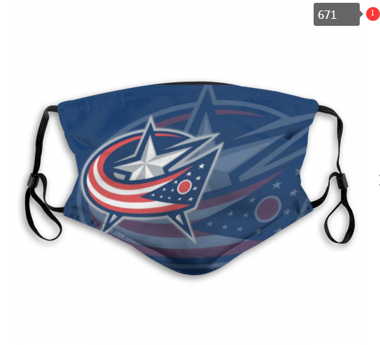 NHL Columbus Blue Jackets 4 Dust mask with filter