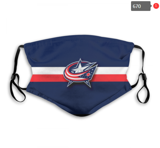 NHL Columbus Blue Jackets 5 Dust mask with filter
