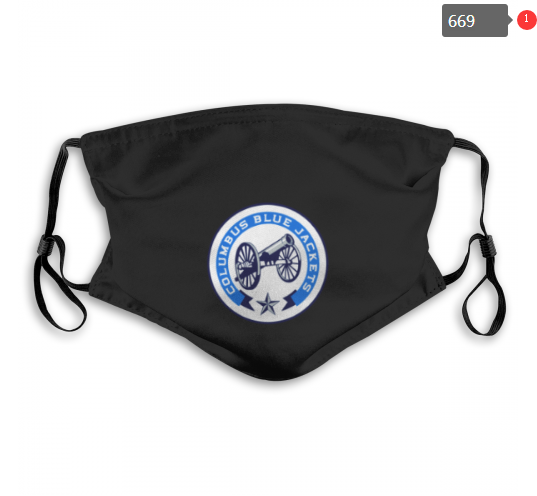 NHL Columbus Blue Jackets 6 Dust mask with filter