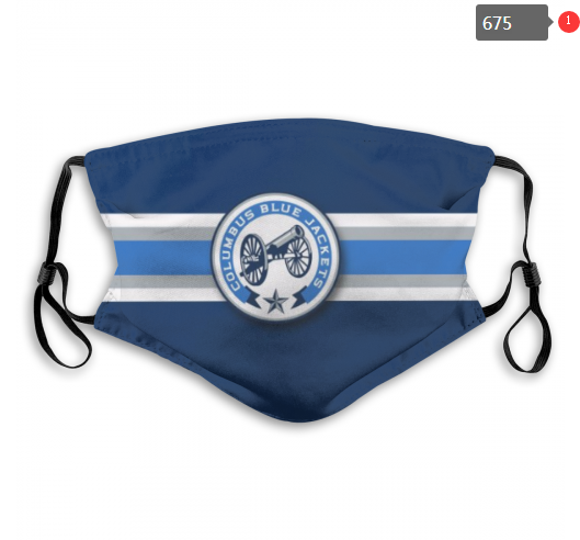 NHL Columbus Blue Jackets Dust mask with filter