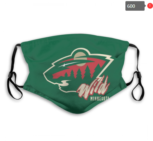 NHL Minnesota Wild 3 Dust mask with filter