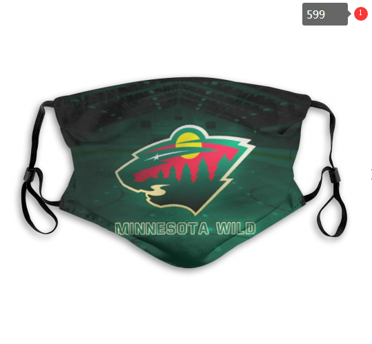 NHL Minnesota Wild 4 Dust mask with filter