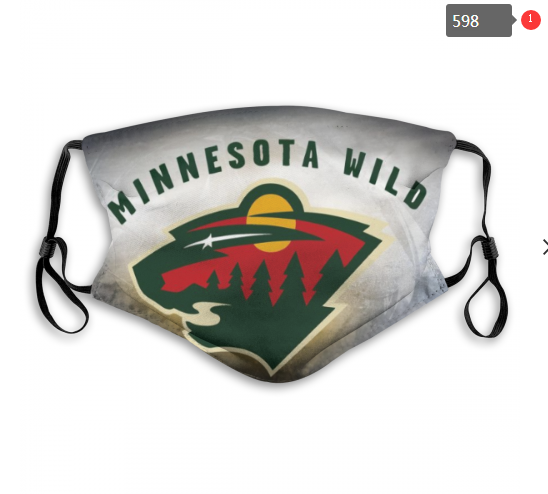 NHL Minnesota Wild 5 Dust mask with filter