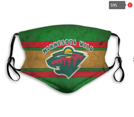 NHL Minnesota Wild 8 Dust mask with filter