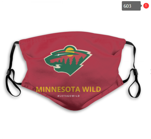 NHL Minnesota Wild Dust mask with filter
