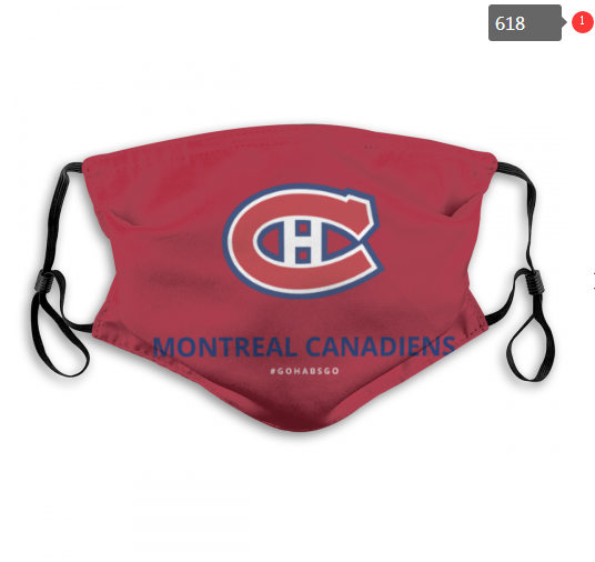NHL Montreal Canadiens 4 Dust mask with filter