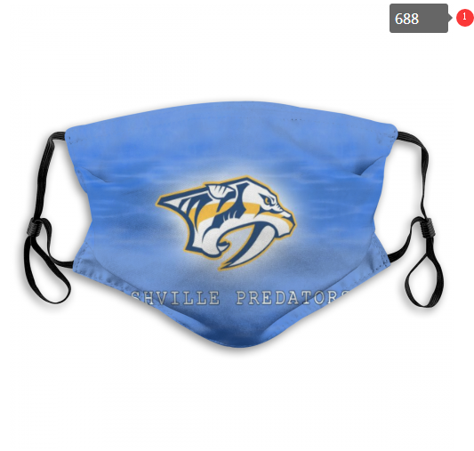 NHL Nashville Predators 2 Dust mask with filter