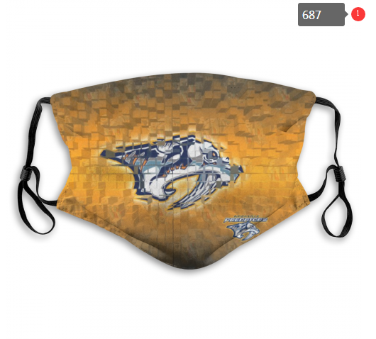 NHL Nashville Predators 3 Dust mask with filter