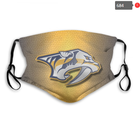 NHL Nashville Predators 6 Dust mask with filter