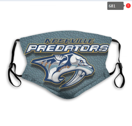 NHL Nashville Predators 9 Dust mask with filter