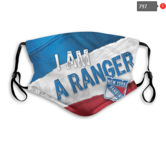 NHL New York Rangers 13 Dust mask with filter