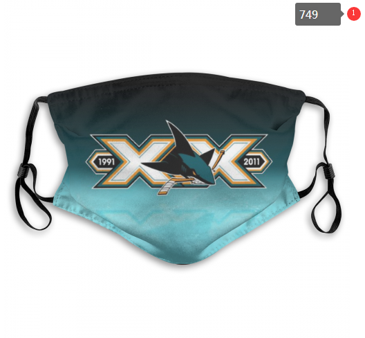 NHL San Jose Sharks 2 Dust mask with filter