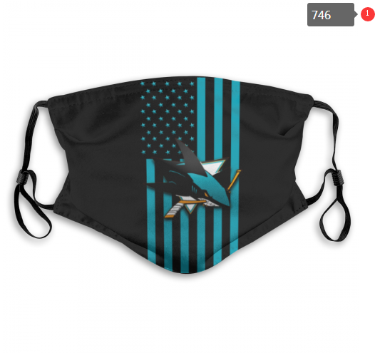 NHL San Jose Sharks 5 Dust mask with filter