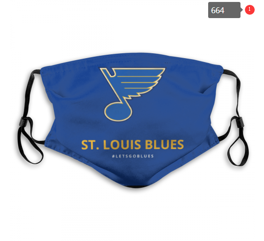 NHL St.Louis Blues 2 Dust mask with filter