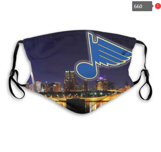 NHL St.Louis Blues 6 Dust mask with filter