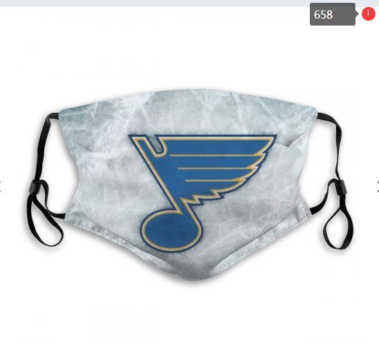 NHL St.Louis Blues 8 Dust mask with filter