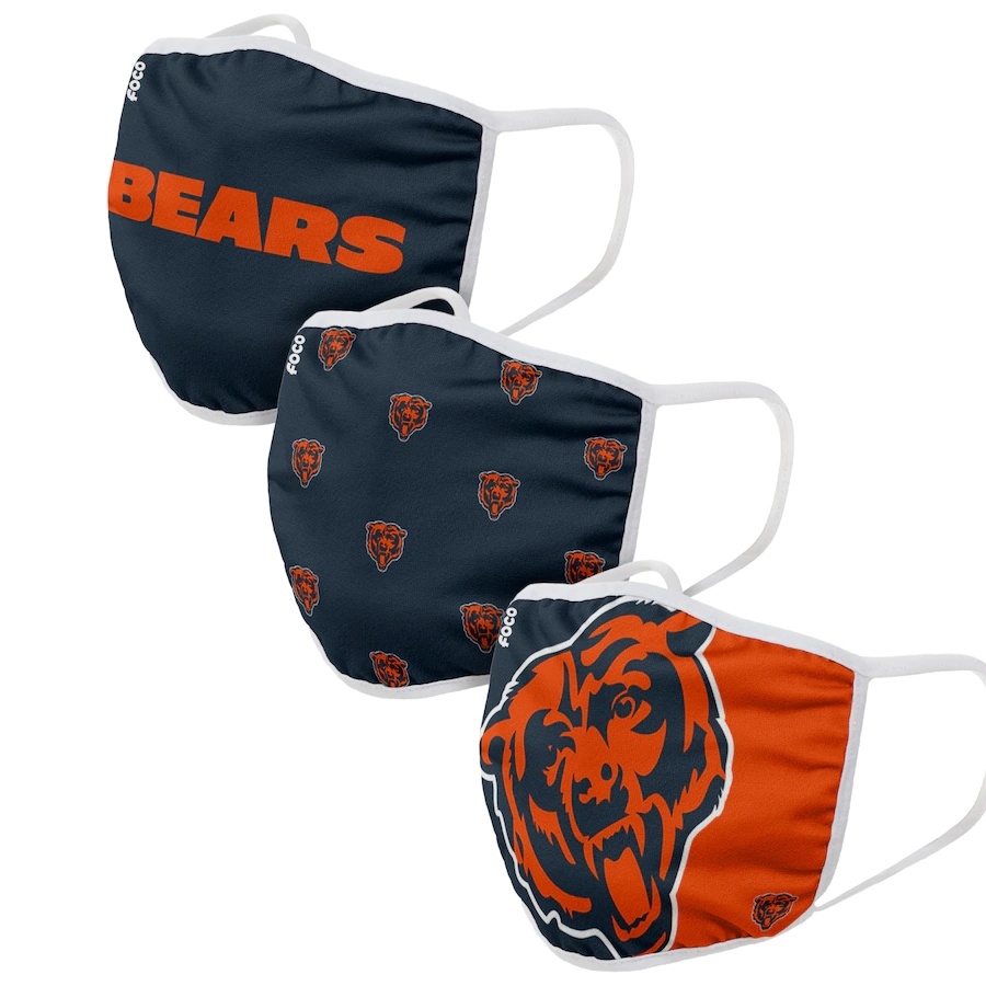 Chicago Bears Face Covering (Size Small) 3-PackDust mask with filter