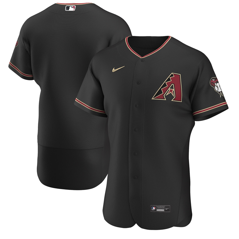 2020 MLB Men Arizona Diamondbacks Nike Black Alternate 2020 Authentic Team Jersey 1
