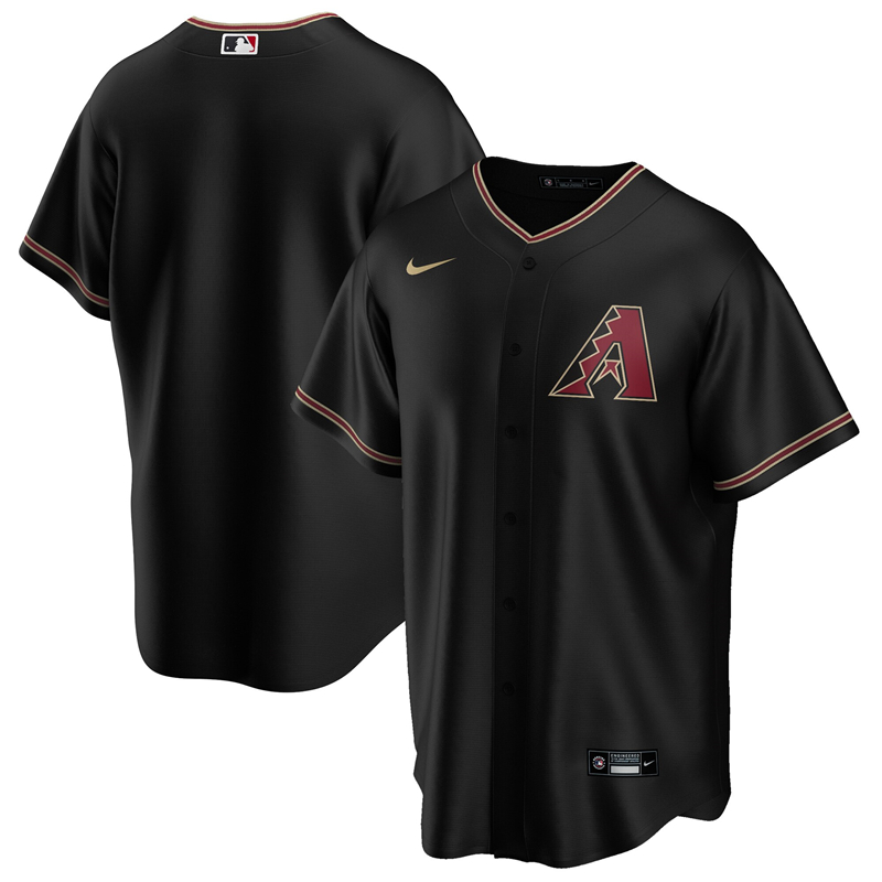 2020 MLB Men Arizona Diamondbacks Nike Black Alternate 2020 Replica Team Jersey 1