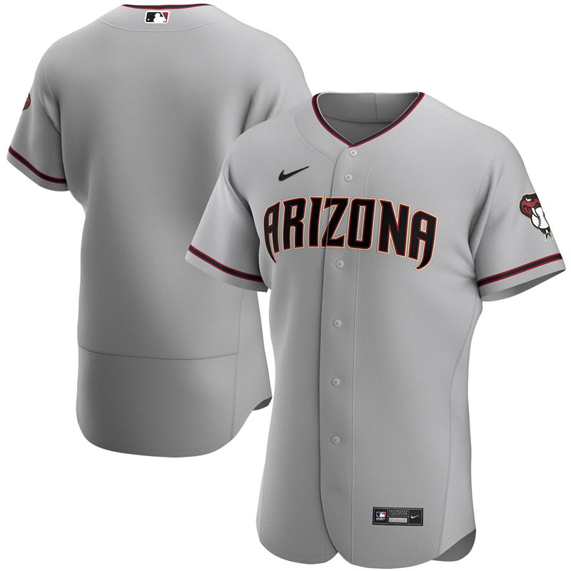 2020 MLB Men Arizona Diamondbacks Nike Gray Road 2020 Authentic Team Jersey 1