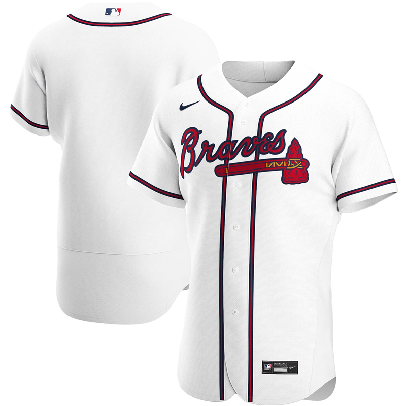 2020 MLB Men Atlanta Braves Nike White Home 2020 Authentic Team Jersey 1