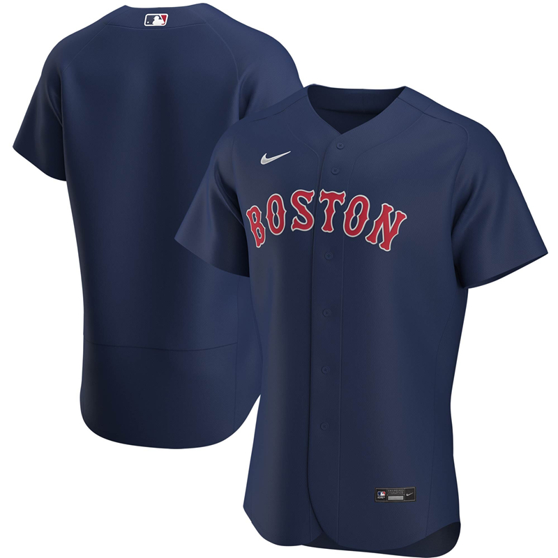 2020 MLB Men Boston Red Sox Nike Navy Alternate 2020 Authentic Jersey 1