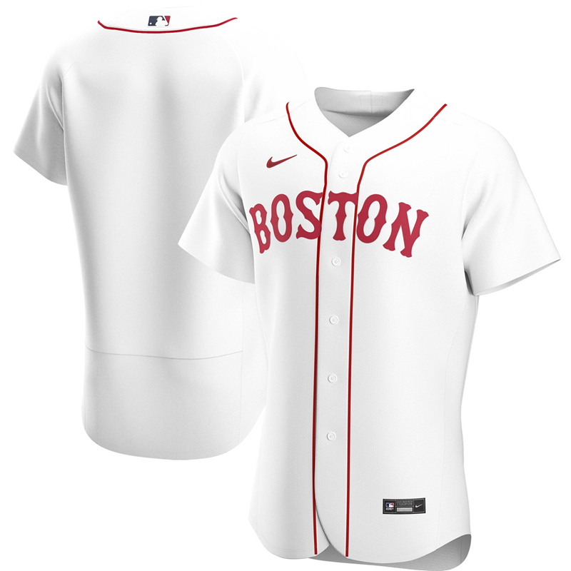 2020 MLB Men Boston Red Sox Nike White Home 2020 Authentic Jersey 1