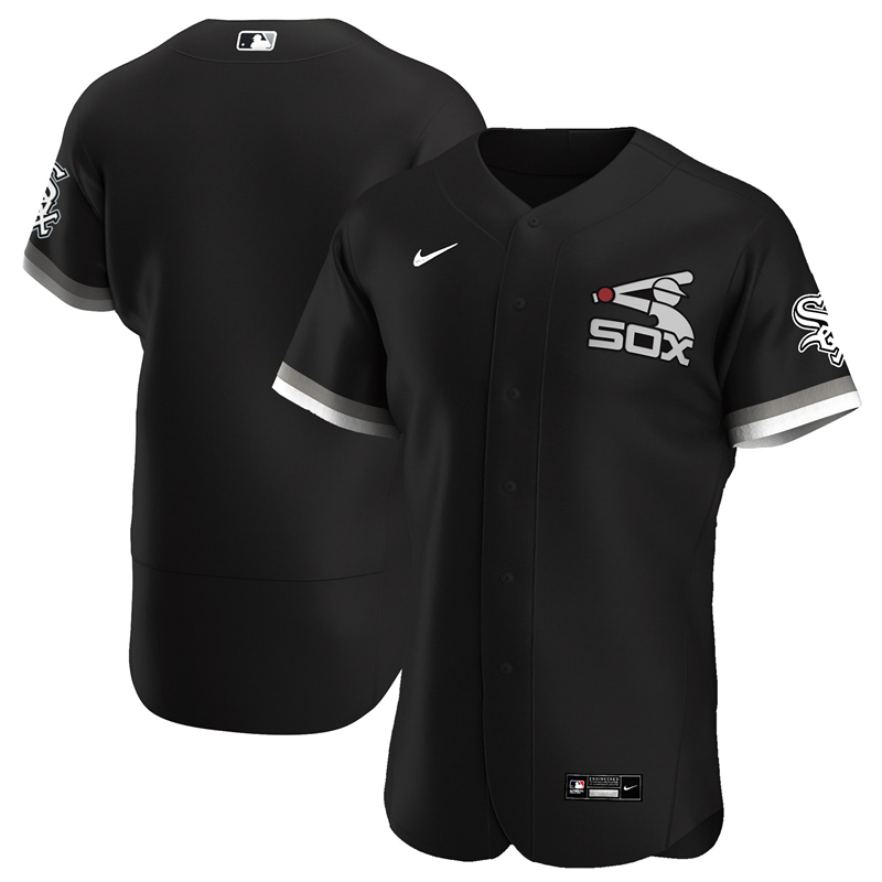 2020 MLB Men Chicago White Sox Nike Black Alternate 2020 Authentic Team Jersey 1
