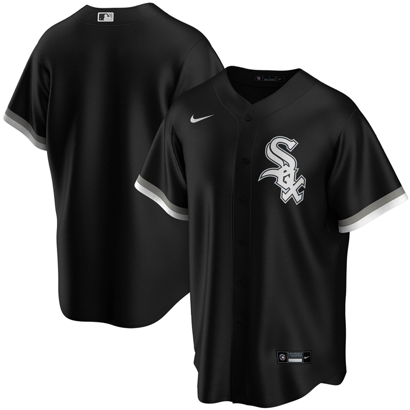 2020 MLB Men Chicago White Sox Nike Black Alternate 2020 Replica Team Jersey 1