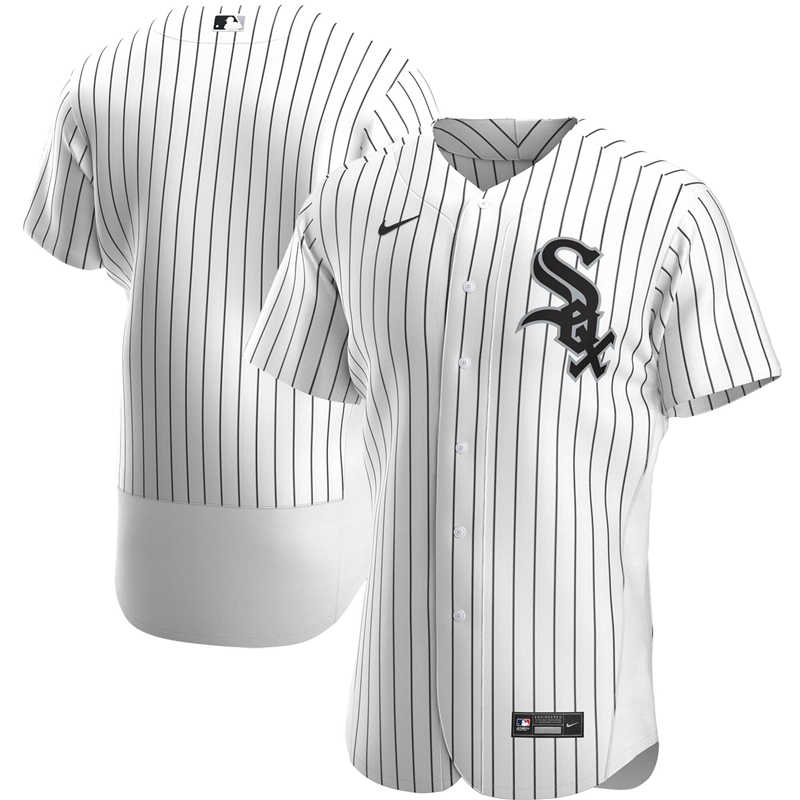 2020 MLB Men Chicago White Sox Nike White Home 2020 Authentic Official Team Jersey 1