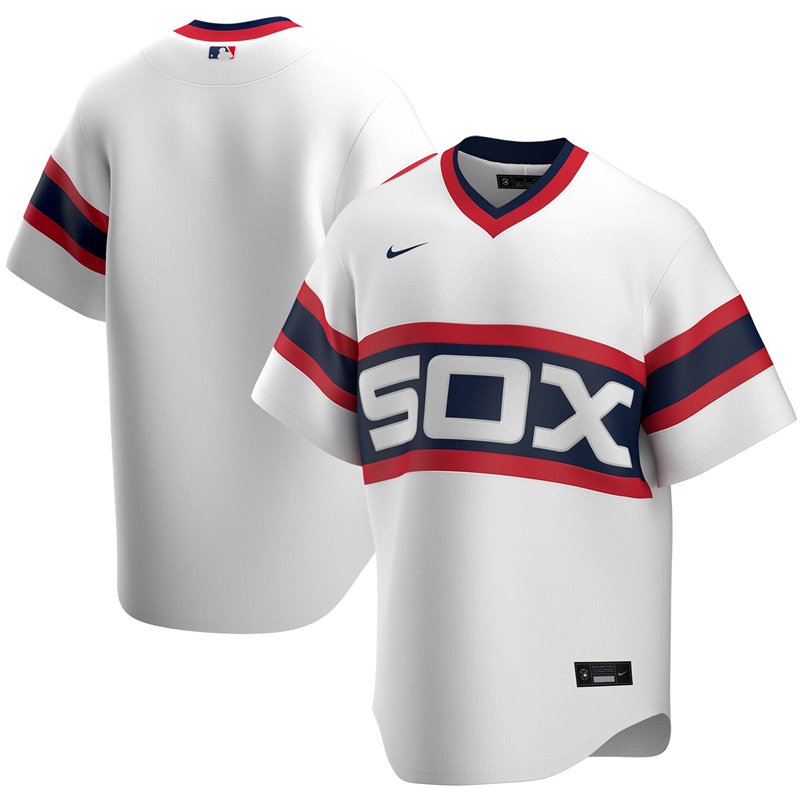 2020 MLB Men Chicago White Sox Nike White Home 2020 Replica Team Jersey 1