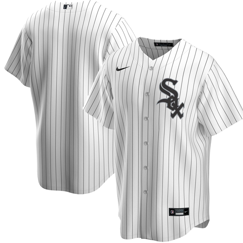 2020 MLB Men Chicago White Sox Nike White Home 2020 Replica Team Jersey1