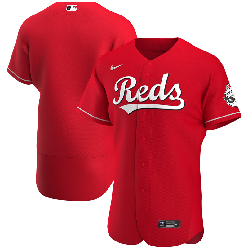 2020 MLB Men Cincinnati Reds Nike Red Alternate 2020 Authentic Jersey 1
