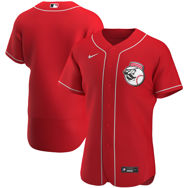 2020 MLB Men Cincinnati Reds Nike Red Alternate 2020 Authentic Team Jersey 1