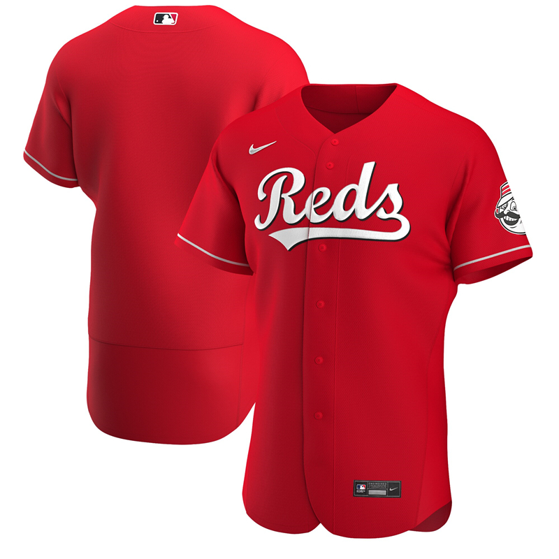 2020 MLB Men Cincinnati Reds Nike Scarlet Alternate 2020 Authentic Team Jersey 1