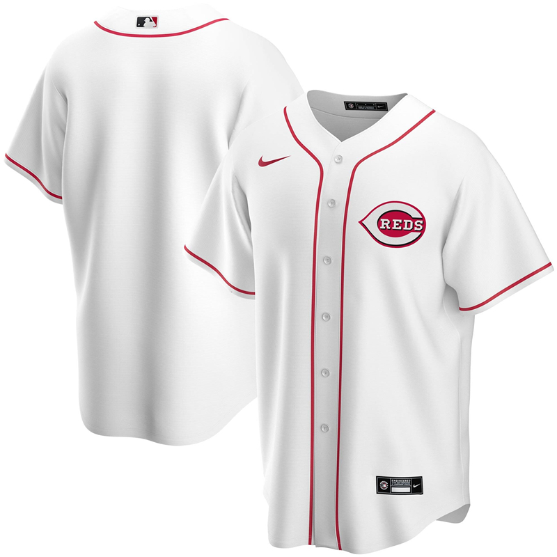 2020 MLB Men Cincinnati Reds Nike White Home 2020 Replica Team Jersey 1