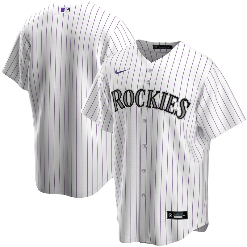 2020 MLB Men Colorado Rockies Nike White Home 2020 Replica Team Jersey 1