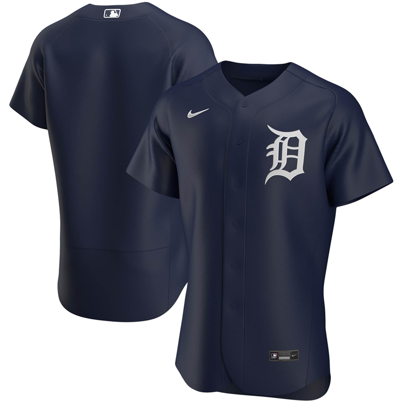 2020 MLB Men Detroit Tigers Nike Navy Alternate 2020 Authentic Official Team Jersey 1