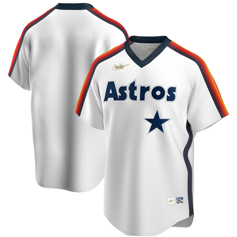 2020 MLB Men Houston Astros Nike White Home Cooperstown Collection Player Jersey 1
