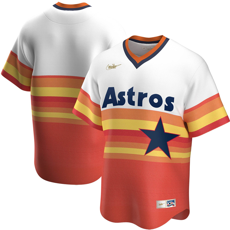 2020 MLB Men Houston Astros Nike White Home Cooperstown Collection Team Jersey 1