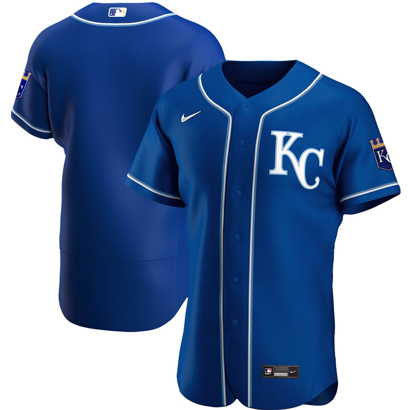 2020 MLB Men Kansas City Royals Nike Royal Alternate 2020 Authentic Official Team Jersey 1